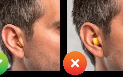 Wirkungsvoll & bequem: Gehörschutzstöpsel richtig tragen